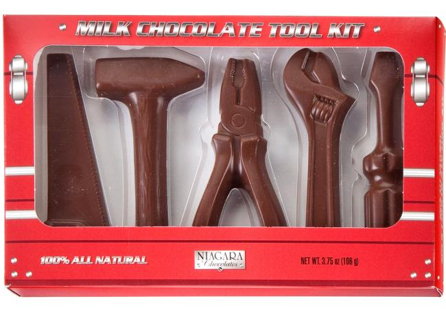 milk chocolate candy tool kit