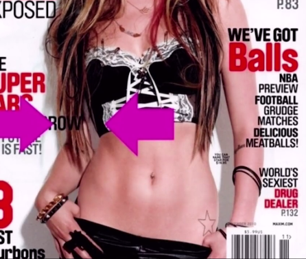 Avril rocks sexiest bad girl exposed